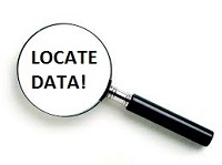 how to locate important data