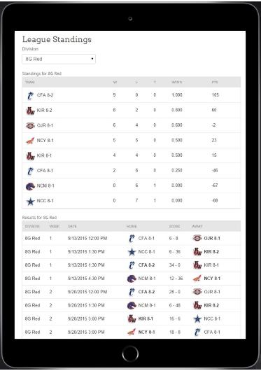 sports league management software league schedule maker engage sports